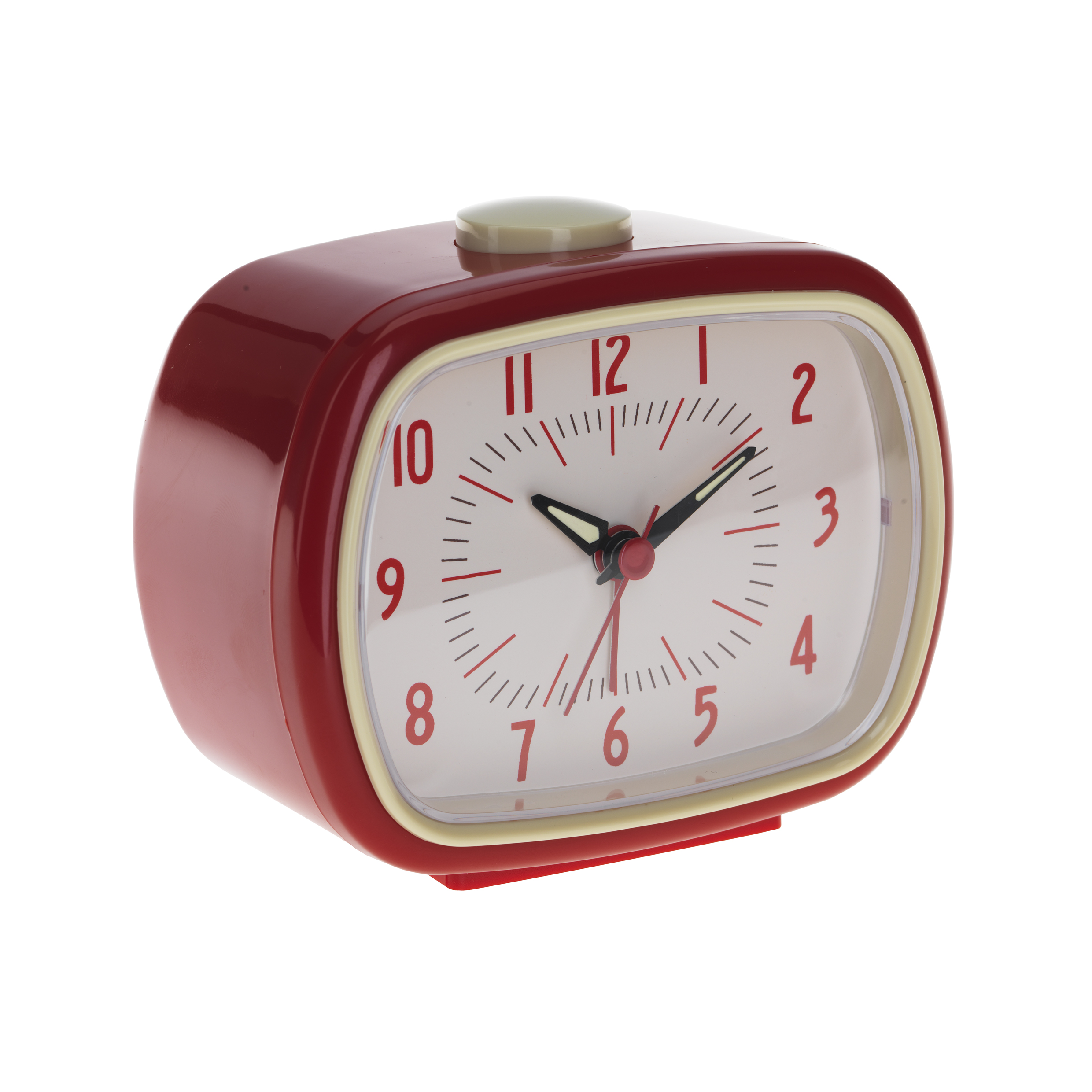 Red retro alarm clock 3
