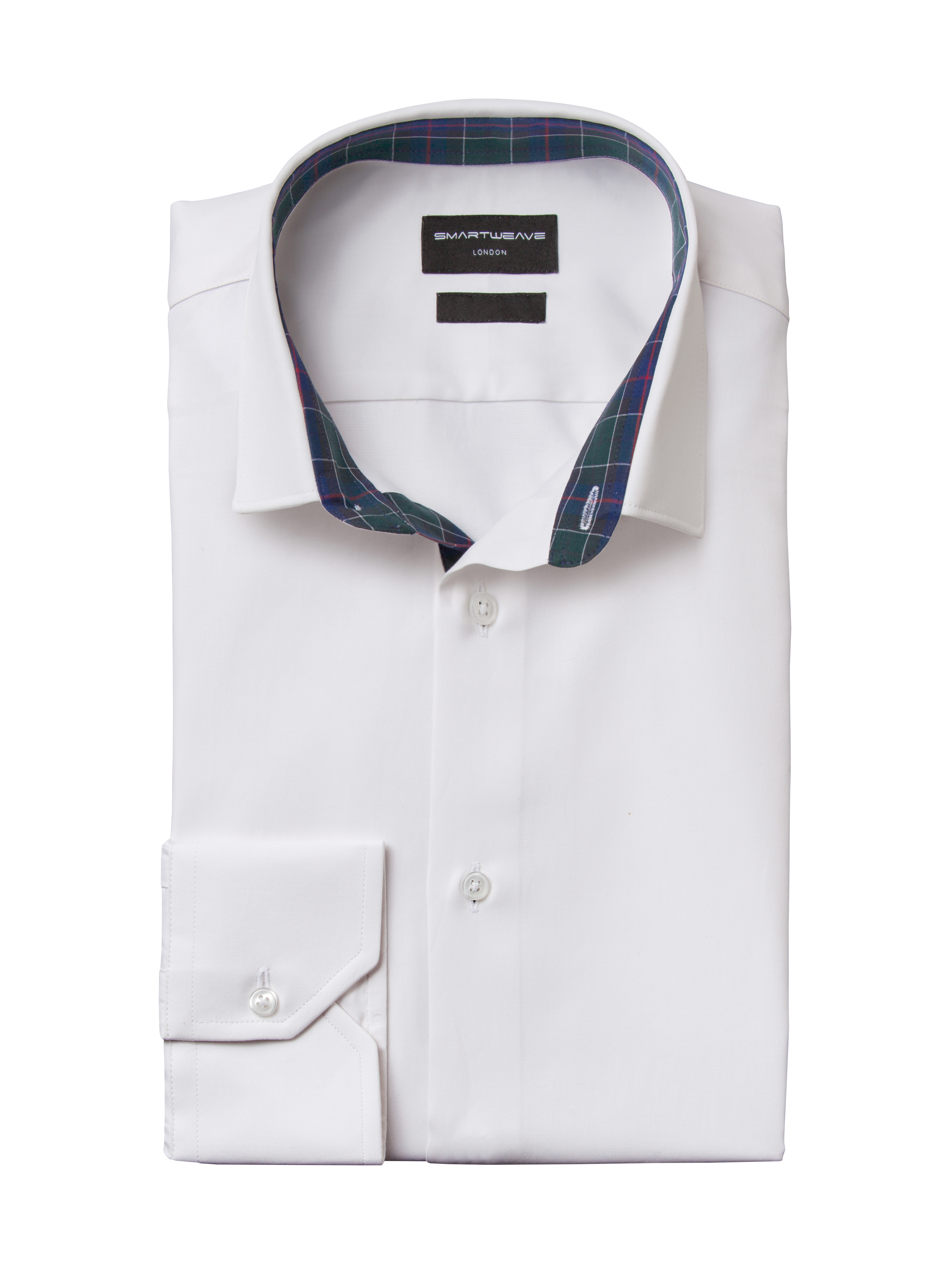 SmartWeave shirt white with tartan 16-23