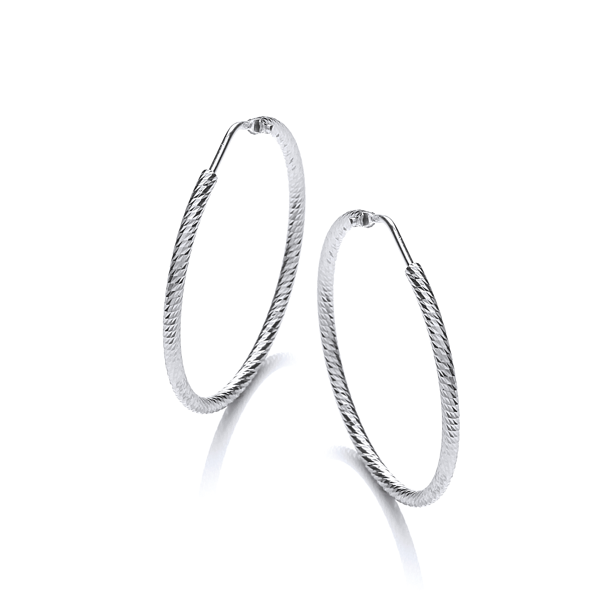 Silver Hoop Earrings www.daviddeyong.co.uk